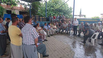 CHP'li Aytuğ Atıcı Tarsus'ta Dolu Felaketinin Zarara Uğrattığı Köylüleri Ziyaret Etti