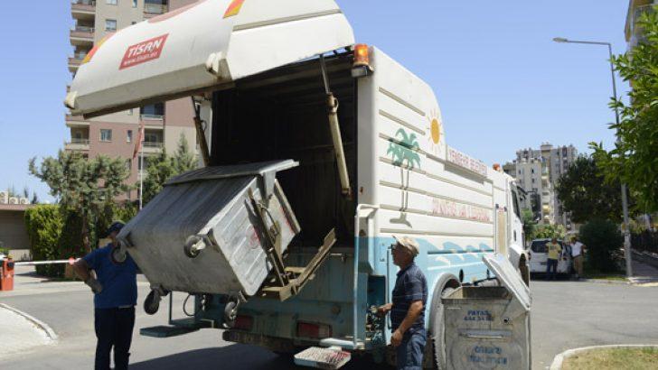 Yenişehir'de Çöp Konteynerleri Yıkanıyor