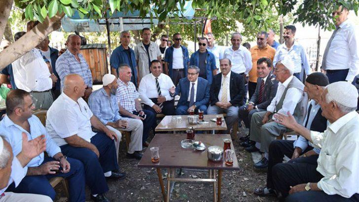 Vali Ali İhsan Su, Tarsus'ta Esnaf ve Vatandaşlarla Bir Araya Geldi