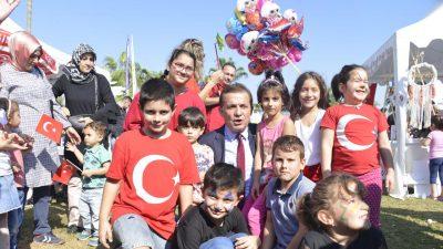 Başkan Özyiğit, Cumhuriyet Bayramı'nda çocuklarla bir araya geldi