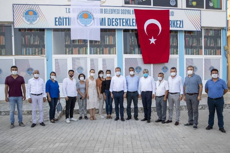 Başkan Vahap Seçer'den Aydıncık'a Ziyaret