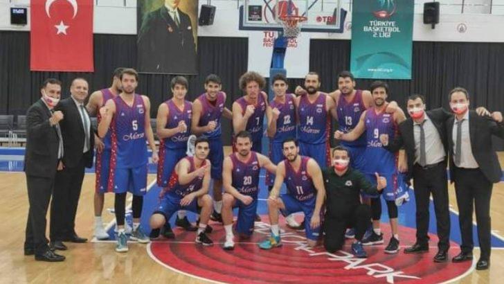 Mersin Büyükşehir Erkek Basketbol Takımı, Kayseri'den Mutlu Döndü