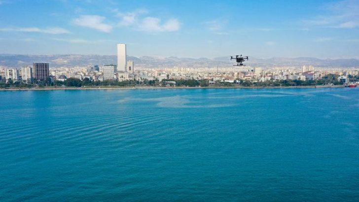 Mersin'de Denizde Drone'lu Çevre Denetimi