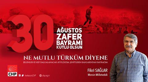 CHP'li Sağlar, 30 Ağustos Zafer Bayramı'nı kutladı