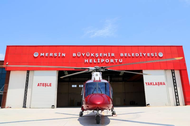 Mersin Büyükşehir'den Satılık Helikopter
